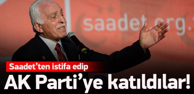 Saadet'ten istifa edip AK Parti'ye katıldılar