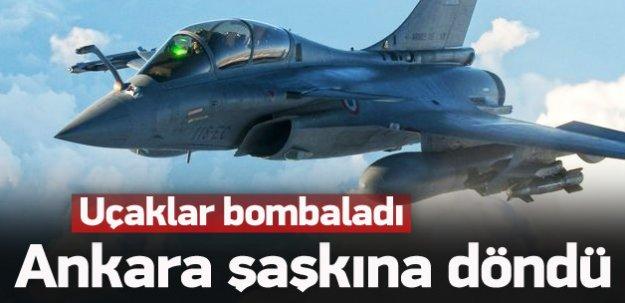 Savaş uçakları vurdu, Ankara şok oldu