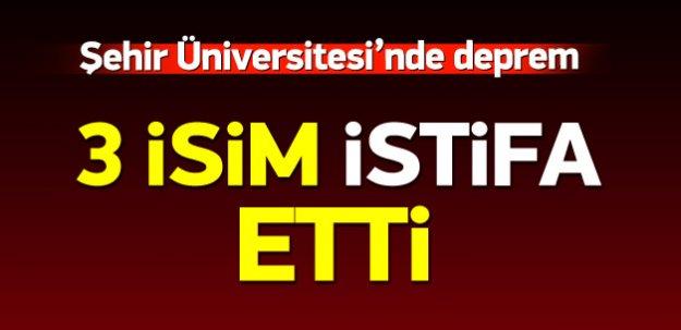 Şehir Üniversitesi'nde istifa depremi