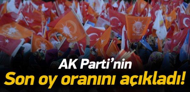 Soylu, AK Parti'nin son oy oranını açıkladı