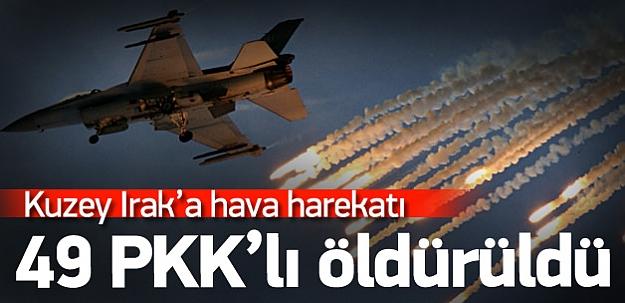 TSK'dan PKK'ya hava hakeratı