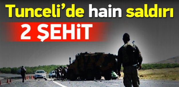 Tunceli'de hain saldırı: 2 asker şehit