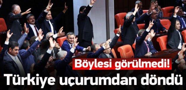 Türkiye uçurumdan döndü! Böylesi görülmedi
