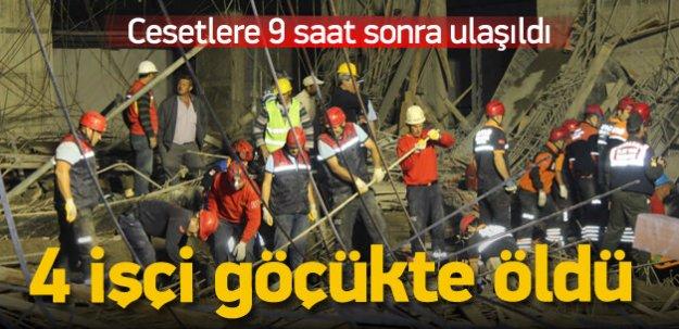 Üniversite inşaatında çatı çöktü, 4 işçi öldü