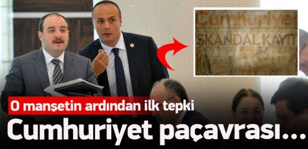 Varank'tan Cumhuriyet'e tepki!