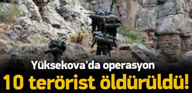 Yüksekova'da 10 PKK'lı öldürüldü