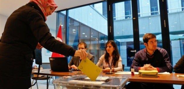 Yurt dışında dün itibariyle kullanılan oy sayısı