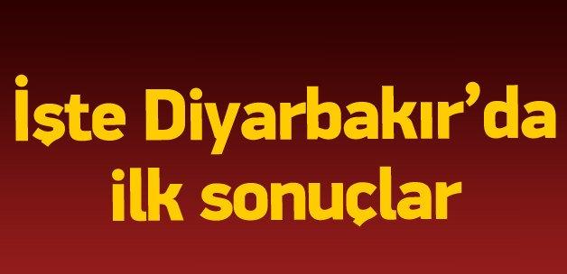 1 Kasım 2015 Diyarbakır seçim sonuçları
