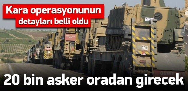 20 bin asker Kilis'ten Suriye'ye girecek!