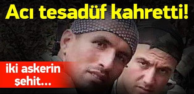 2 askerin şehit olmasındaki acı tesadüf kahretti