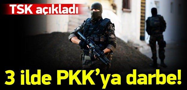3 ilde PKK'ya darbe vuruldu!