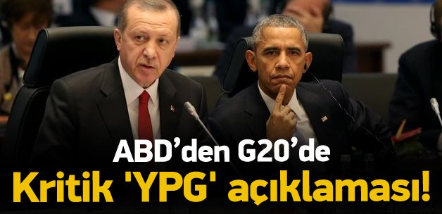 ABD'den G20'de 'YPG' açıklaması