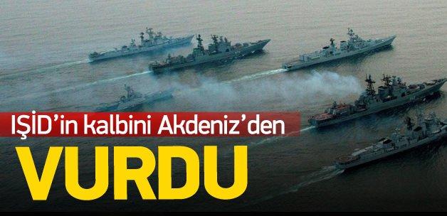 'IŞİD'in kalbini Akdeniz'den vurdu'