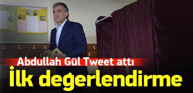 Abdullah Gül'den ilk seçim değerlendirmesi