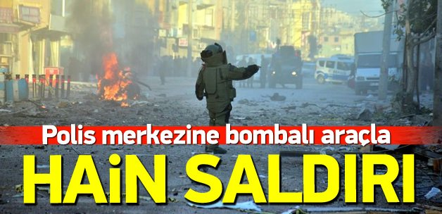 Adana'da polis merkezine bombalı araçla saldırı