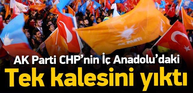 AK Parti CHP'nin İç Anadolu'daki tek kalesini aldı
