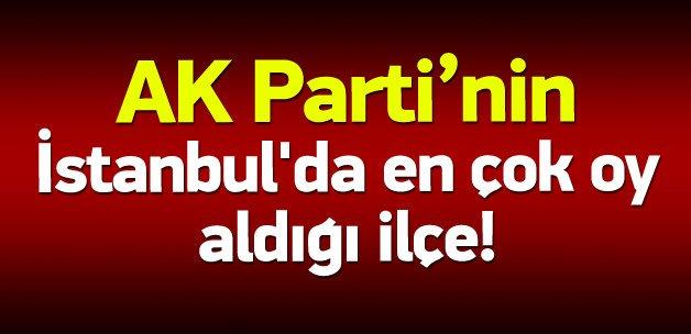 AK Parti İstanbul'da en çok oyu bu ilçeden aldı