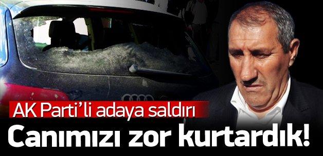 AK Parti milletvekili adayına taşlı sopalı saldırı
