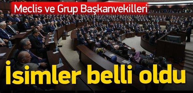 AK Parti'nin Meclis ve Grup Başkanvekilleri