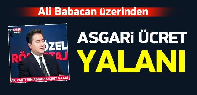 Ali Babacan üzerinden asgari ücret yalanı!