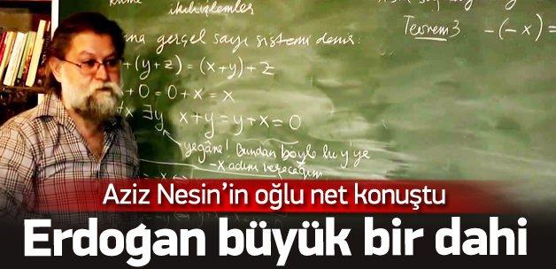 Ali Nesin: Tayyip Erdoğan bir dahi