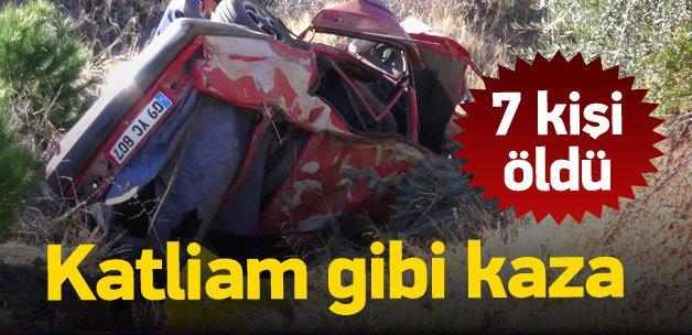 Aydın'da trafik faciası: 7 ölü