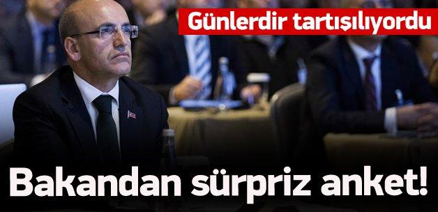Bakan Şimşek'ten sürpriz Twitter anketi