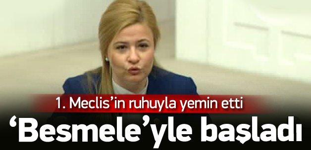 Bennur Karaburun yemine 'Besmele'yle başladı