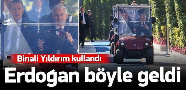 Binali Yıldırım kullandı, Erdoğan böyle geldi!