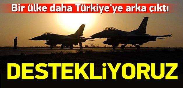 Bir ülke daha Türkiye'ye desteğini açıkladı