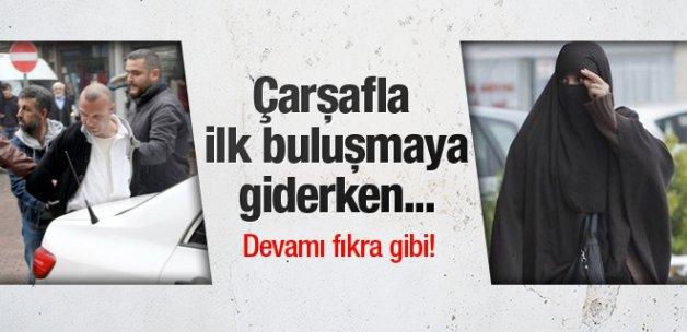 Çarşafla sevgilisine giden Türk dünyanın dilinde!