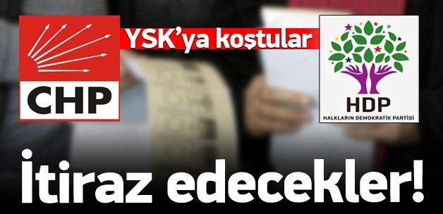 CHP ve HDP'den seçim sonuçlarını itiraz