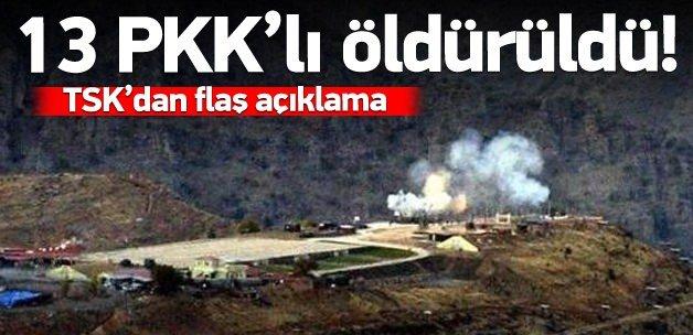 Çukurca'da 13 terörist öldürüldü!