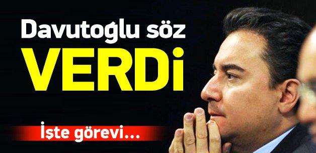 Davutoğlu, Babacan'a kaptanlık sözü verdi