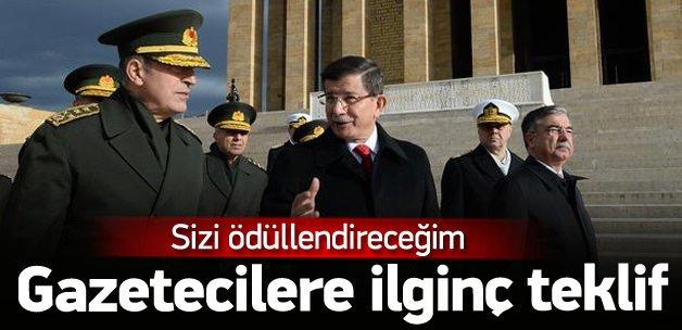 Davutoğlu'ndan gazetecilere 'fotoğraf' teklifi
