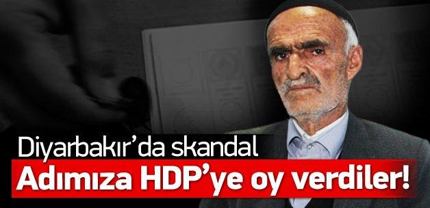 Diyarbakır'da skandal: Adımıza HDP'ye oy verdiler!