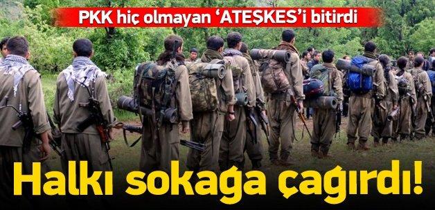 Dün 2 askeri şehit eden hainler ateşkesi bitirdi
