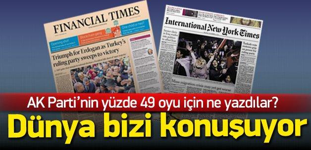 Dünya basınında AK Parti'nin zaferi manşet oldu