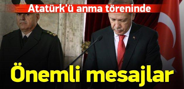 Erdoğan Atatürk'ü anma töreninde konuştu