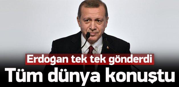 Erdoğan tek tek yazdı, dünya konuştu