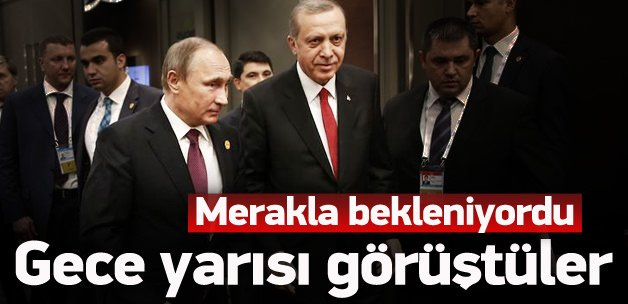 Erdoğan, Vladimir Putin ile görüştü
