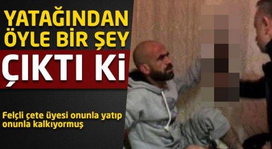 Felçli çete üyesi Kalaşnikof'la yatıyormuş