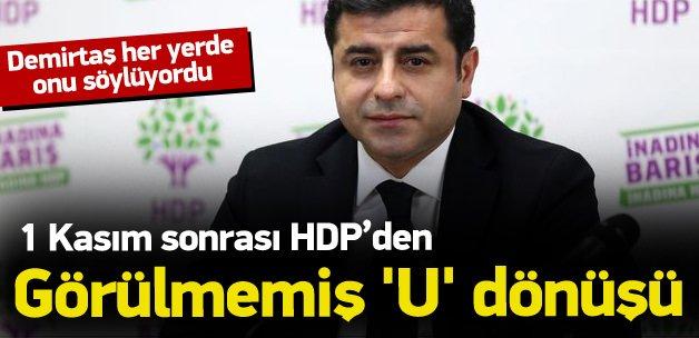 HDP'den görülmemiş 'U' dönüşü!