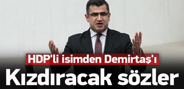 HDP'li isimden Demirtaş'ı kızdıracak sözler