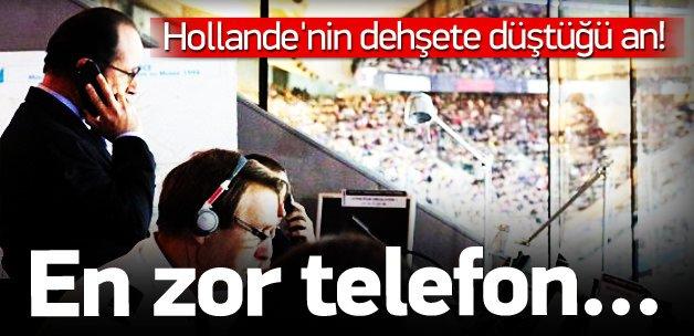 Hollande dehşeti stadyumda öğrendi