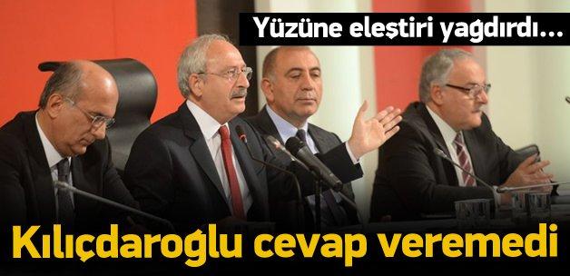 Kılıçdaroğlu o eleştirlere cevap vermedi