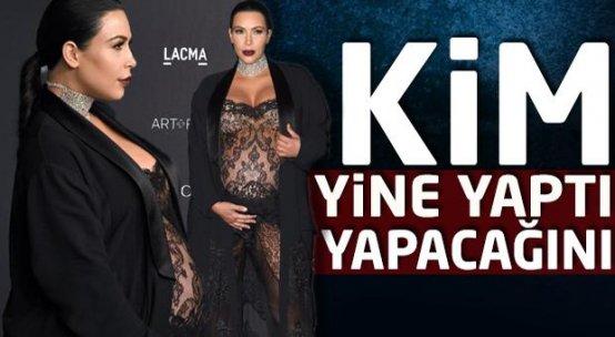 Kim Kardashian yine yapacağını yaptı