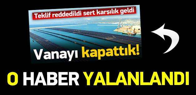 'KKTC'ye su iletimi durduruldu' haberi yalanlandı