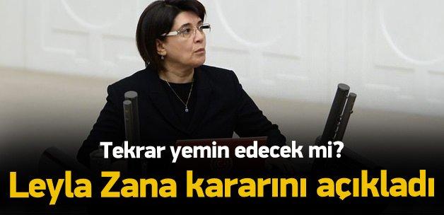 Leyla Zana'dan 'yemin' kararı!