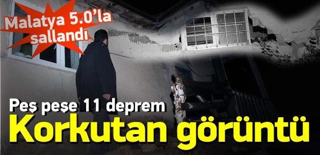 Malatya'daki deprem evlerin duvarlarını yıktı